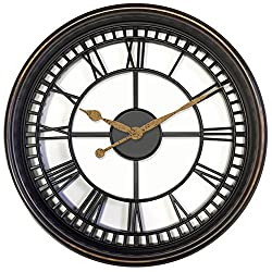Westclox 33908 Antique Style 20 Wall Clock Brown See Through Design, Large