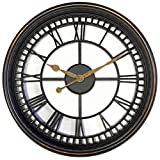 Westclox 33908 Antique Style 20'' Wall Clock Brown See Through Design, Large