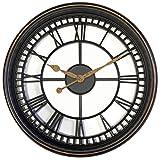 "Westclox 33908 Antique Open Face 20"" Wall Clock Antique Brown See Through Open Wall Clock,Antique Brown,Large"