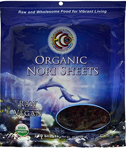 Earth Circle Organics Nori Seaweed, 10 Sheets
