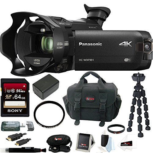 Panasonic HC-WXF991K 4K Ultra HD Camcorder w/Twin Camera w/ 106GB Bundle