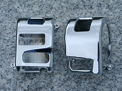 (i5 Chrome Switch Housing Covers for Yamaha Road Star & Warrior.)