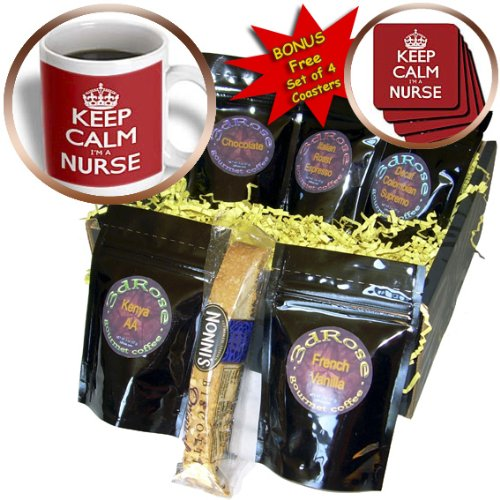EvaDane - Funny Quotes - Keep calm Im a nurse, Red - Coffee Gift Baskets - Coffee Gift Basket (cgb_163857_1)