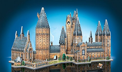 WREBBIT 3D Harry Potter's Hogwarts School of Witchcraft & Wizardry - Great Hall & Astronomy Combo Pack 3D Jigsaw Puzzle JK Rowling