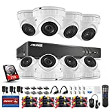 ANNKE 5-in-1 3.0MP Security Camera System, 8Ch 3-Megapixel DVR Recorder with 2TB Hard Drive and (8) 1920x1536@18fps Outdoor Metal Weatherproof Cameras, Motion Detection, Super Night Vision