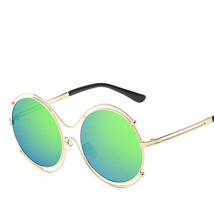 BiuTeFang Gafas de Sol Mujer Hombre Polarizadas Tendencia Retro Gafas de Sol Metal Redondo Marco Marco