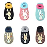 TRAVEL BUS 6 Pairs Baby Girl/Boy Toddler Anti-slip Low Cut Socks(6-24 Months)
