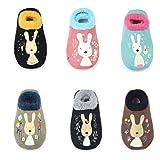 TRAVEL BUS 6 Pairs Baby Girl/Boy Toddler Anti-slip Low Cut Socks(6-24 Months)