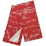 India Overseas Merry Christmas Languages Red Dish Towels, Set of 2