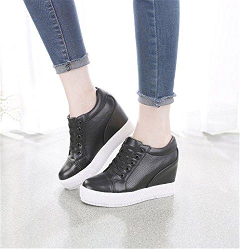 Estudiante 33 Para Mujer Zapatos Wealsex Transpirables Negro Casuales Cordones Aumentar 40 Tw0CUqHx