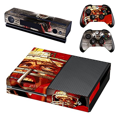 L'Amazo Best Sport fans American football basketball baseball style XBOX ONE Designer Skin Game Console System p 2 Controller Decal Vinyl Protective Covers Stickers for XBOX ONE (Power)