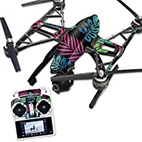 MightySkins Protective Vinyl Skin Decal for Yuneec Q500 & Q500+ Quadcopter Drone wrap cover sticker skins Neon Tropics