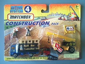 MATCHBOX 1996 Action System Playset #4 - Construction Pack (8 piece playset) by Tyco Toys Inc: Amazon.es: Juguetes y juegos