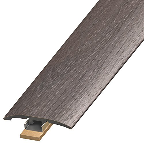 "CalFlor MD10011 3-in1 UniTrim 2"" Wide x 94"" Long 3-in-1 Waterproof Floor Molding for Laminate, WPC, LVT & Vinyl, 1 Pack, Gray"