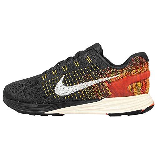 Nike Wmns Lunarglide 7, Zapatillas de Running Unisex Adulto Gris (Anthrct / Sl-Tr Yllw-Hypr Orng)