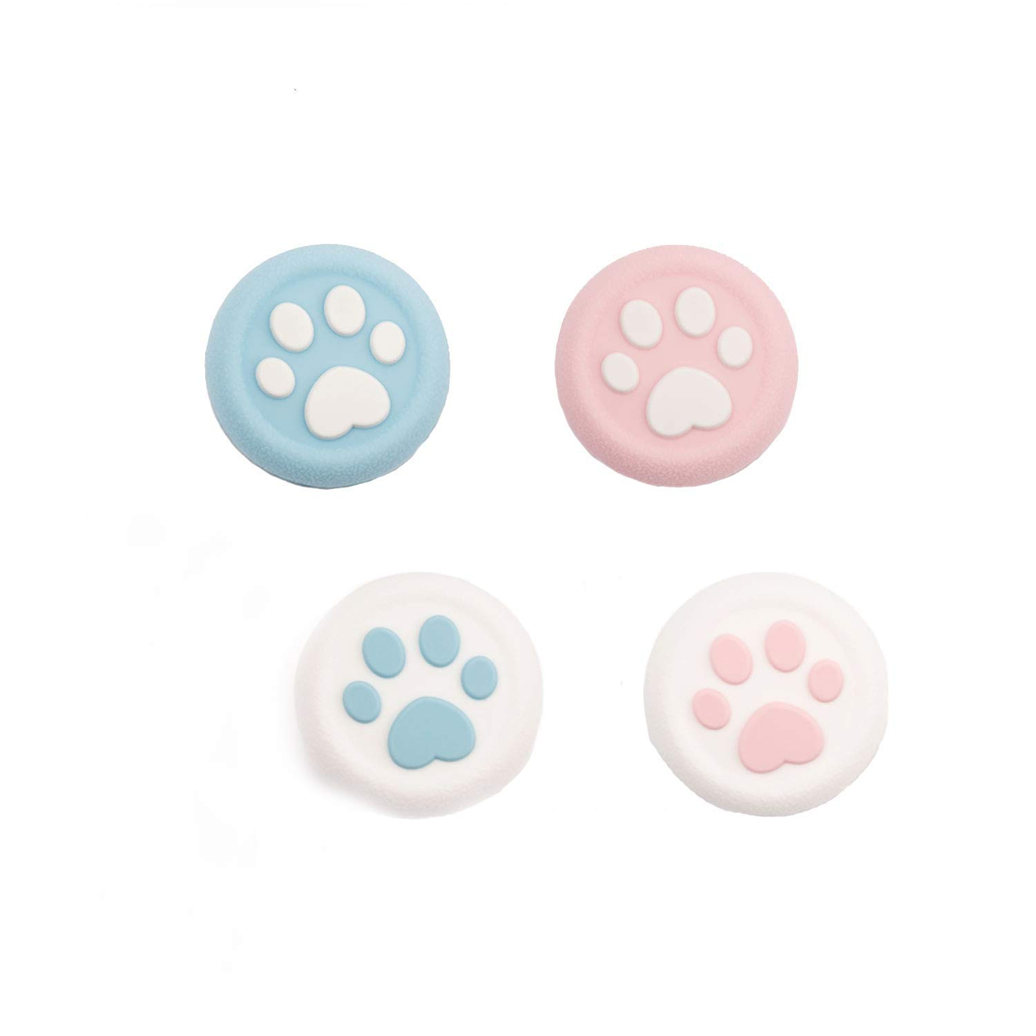 Geekshare 4Pcs Switch Paw Thumb Grip Set JoystickCaps for Switch Pro PS4 Controller Game AccessoriesThumbstick Button by Geekshare
