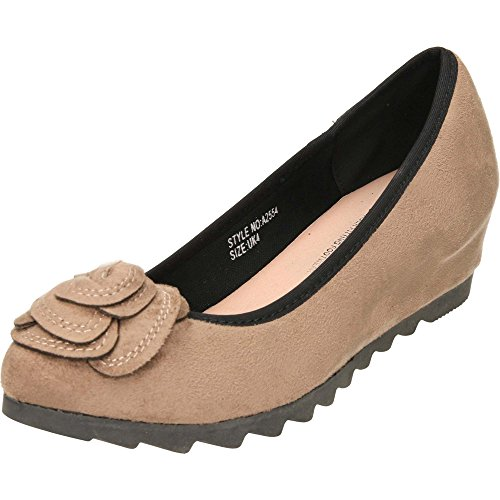 Suede Wedge Concealed Shoes Fit Plus Comfort Style Wide Mink ItwvvX