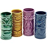 Ceramic Tiki Mug Party Pack - Set of 4