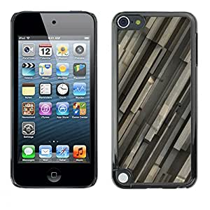 Qstar Arte & diseño plástico duro Fundas Cover Cubre Hard Case Cover para Apple iPod Touch 5 ( Architecture Design Modern Art Random Structure)