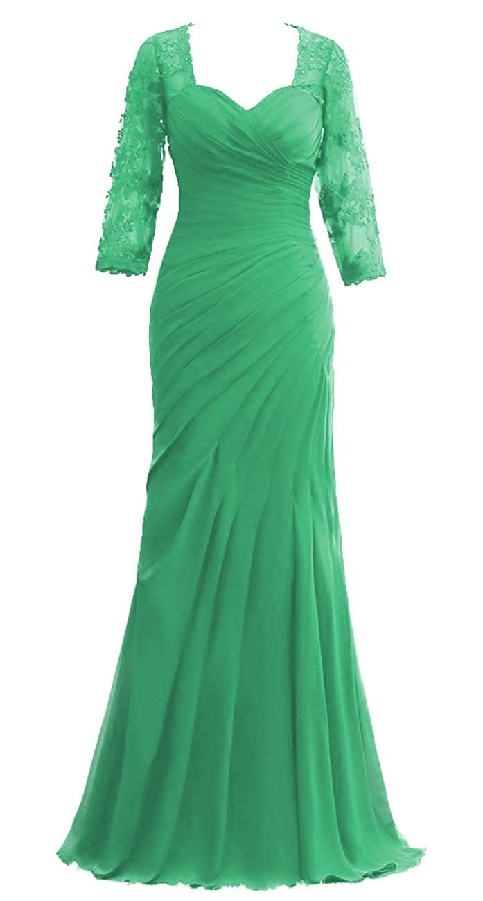 Green JAEDEN Mother of The Bride Dresses Long Sleeves Evening Gowns for Women Formal