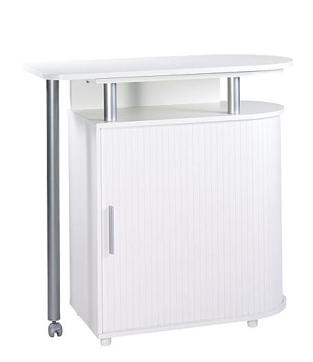 SIMMOB nantes271bl carrito de cocina/mesa madera blanco 55 x 110 x ...
