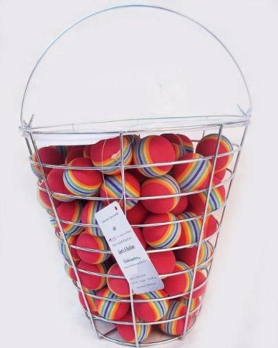 A99 Golf Rainbow Foam Ball Practice 110 Pcs with Bucket, Outdoor Stuffs