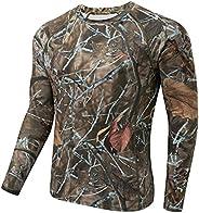 BASSDASH Men's Lightweight Thermal Base Layer Shirt Underwear Top Warm Ultra Soft Quick