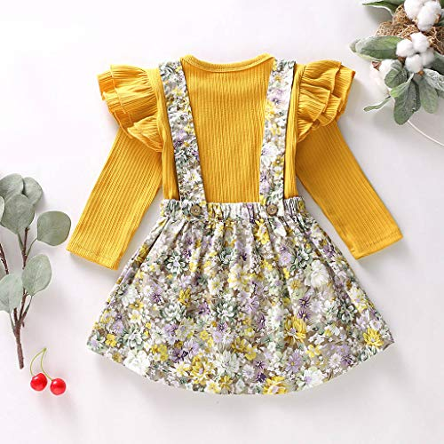 Sharemen Baby Girl Long Sleeve Kids Casual School Dress for Children Knitted Sweater