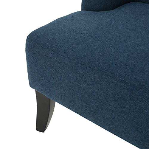 Christopher Knight Home 299949 Nicole Dark Blue Fabric Settee