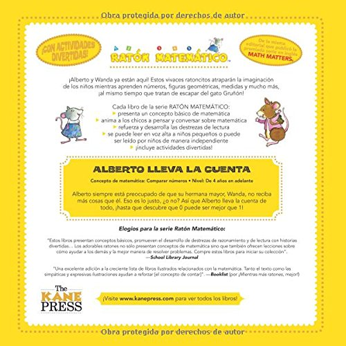 Amazon.com: Alberto Lleva La Cuenta (Albert Keeps Score): Comparar Números (Comparing Numbers) (Ratón Matemático (Mouse Math)) (Spanish Edition) ...