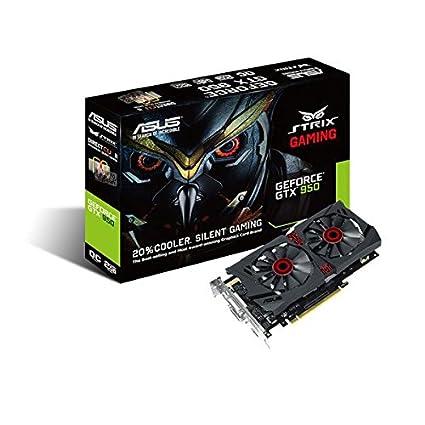 ASUS STRIX-GTX950-DC2OC-2GD5-GAMING - Tarjeta gráfica de 2 GB GDDR5 (NVIDIA GeForce GTX 950, PCI Express 3.0, 6610 MHz, HDMI)
