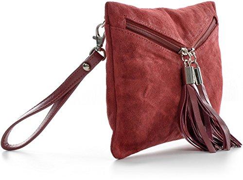 suède de soir H velours à sac sacs main sacs embrayages 23x16 fête la embrayage pochettes des L du femmes sacs en mode de de x sacs 5x1cm CNTMP P Bourgogne x à franges cuir w7qAv1H