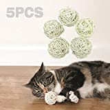 #7: Pokeman Kitty Toys for Cat,Cat Ball Toy with Bell,Interactive Toy for Kitten,Made with Natural Wicker Rattan