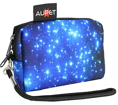 AUPET Star Design Digital Camera Case Bag Pouch Coin Purse with Strap for Sony Samsung Nikon Canon Kodak