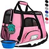 PetAmi Premium Airline Approved Soft-Sided Pet Travel Carrier | Ventilated, Comfortable Design with Safety Features | Ideal for Small to Medium Sized Cats, Dogs, and Pets (Large, Pink) Larger Image