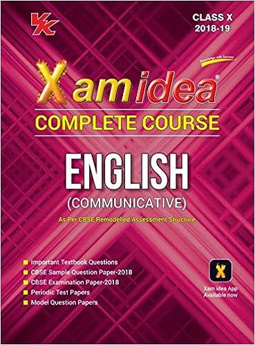 Xam idea Complete Course English Class 10 - 2019 Exam