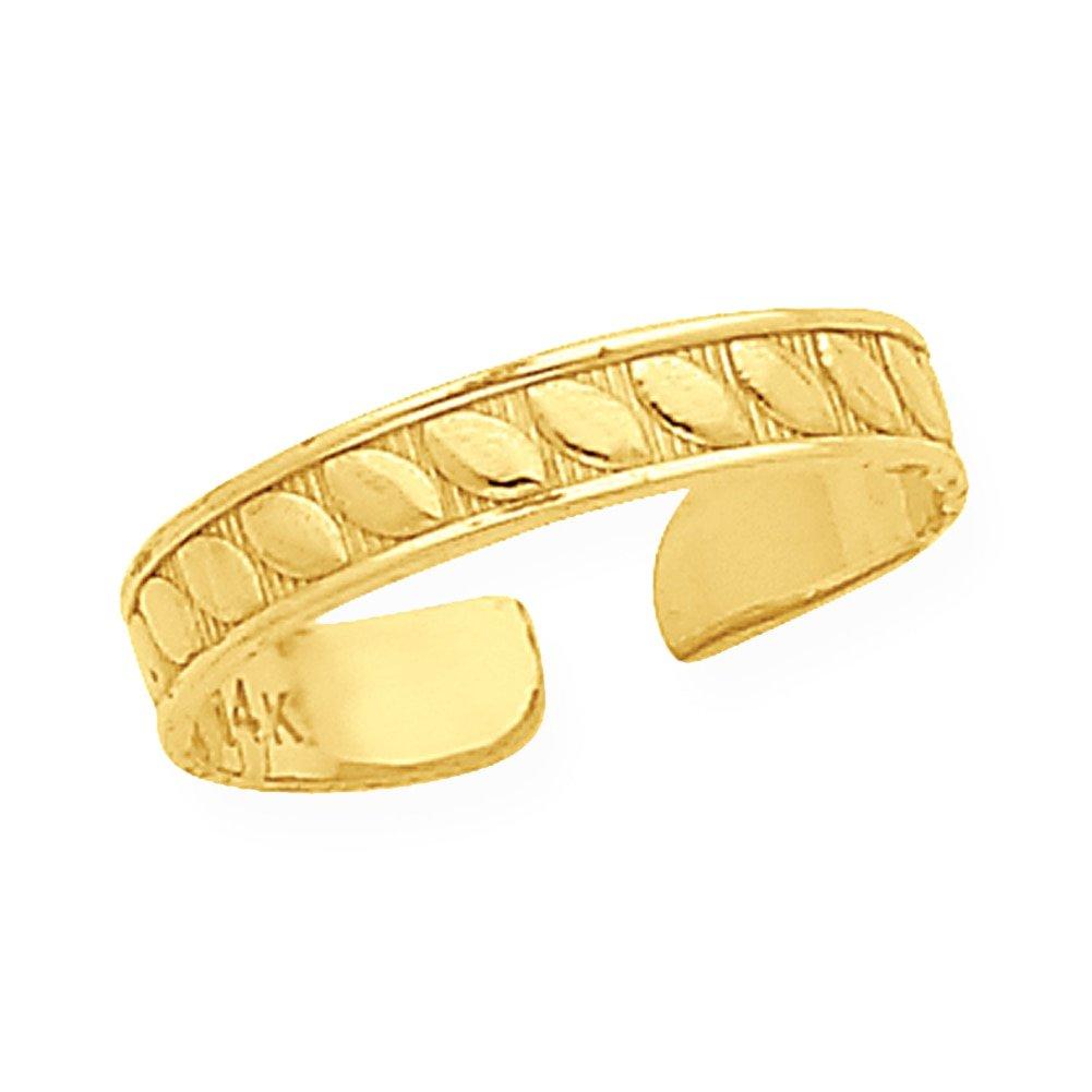 Lex /& Lu 14k Yellow Gold Toe Ring LAL80251