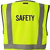 Kamal Ohava Budget Mesh Reflective Safety Vest, SAFETY Lime, S/M