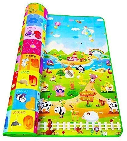 LATIQ MART Weltime Waterproof, Anti Skid, Double Sided Baby Crawling Mat for Kids Picnic Play School Home (Large Size…