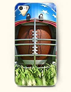 OOFIT Phone Case design with Rugby in the Football Helmet for Apple iPhone 4 4s 4g