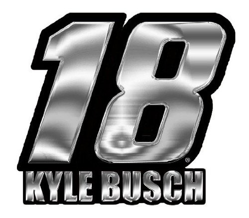 Kyle Busch #18 M&M's NEW Chrome Emblem Decal Nascar Racing Auto Car ()