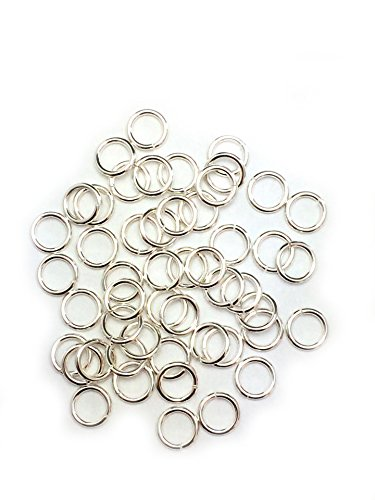 Amazon Com 50 Sterling Silver Round Open Jump Rings 5 6mm 20 Gauge