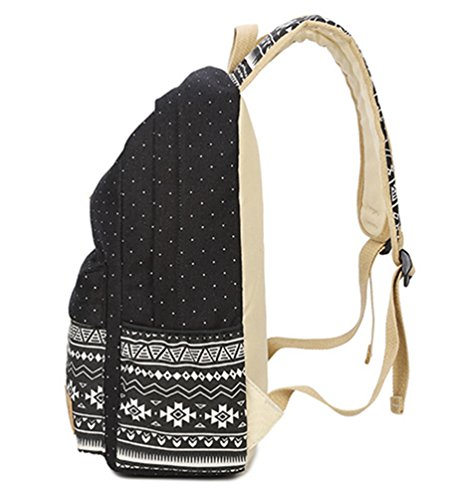 WanYang 3 Piezas Mochila + Bolso+ Billetera Para Lona Backpack Mochilas Escolares Mochila Escolar 3Pcs Set Negro