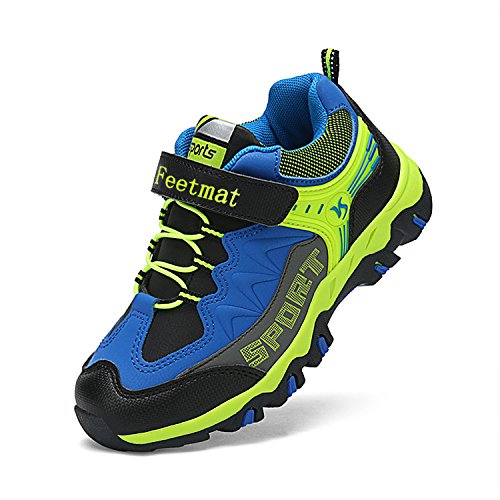 Boys Tennis Shoes - Feetmat Boys Hiking Shoes Waterproof Wide Athletic Trail Running Sneakers for Boys