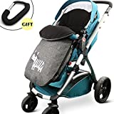 CELEMOON [Upgraded Version] Universal Baby Stroller Sleeping Bag, Baby Bunting Bag Footmuff Warmer for Toddler, Grey