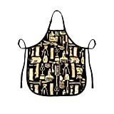 Betty Dain Vintage Barber Apron, Gold/Black