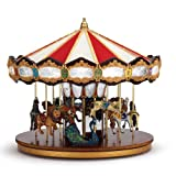 Mr. Christmas Grand Jubilee Holiday Carousel Music Box with 40 Songs & Synchronized Lights, Animated Tabletop Musical Carousel Decoration