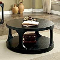 Furniture of America CM4422C Carrie Antique Black Coffee Table