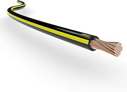 Auprotec Kfz Litze Flry 0 75mm 1mm 1 5mm Längen 5m Oder 10m Auswahl 5m Meter 1 Mm Schwarz Gelb Auto