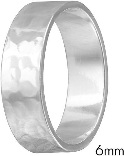 Princess Kylie 925 Sterling Silver Plain Wedding Band Ring